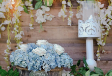 Dusty blue in romantic rustic by Bali Signature