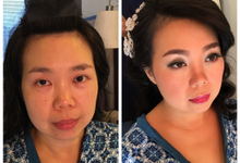 Before-After by LC MUA by Laurene