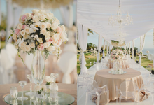 Tented white wedding by Bali Signature