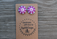 Beautiful fabric earrings for bridal party!  by Squibble Designs