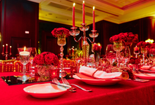 Beautiful Red roses themed wedding by Merit Events