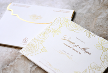 White Gold Luxury Design by Memoir Paperie