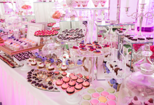 Desert Table set up and bridal shower by Merit Events