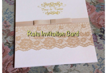 Doubleboard or tripleboard hardcover & (flat ) by RATU INVITATION CARD