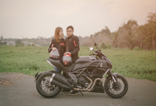 Ducati casual engagement by white