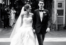 It's A Beautiful Day for Melissa&Greg by Vera Wang Brides
