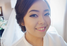 Wedding of Jennifer and George by Lala Lim makeup artist