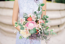Rustic Peony Prewedding Bouquet by Liz Florals
