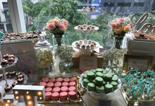 Mint Green & Pastel Pink Dessert Table :) by Baker V