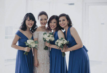 Wilson & Yohanna Wedding • Glamorous Blue by MALVA Bridesmaids
