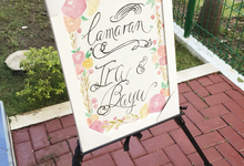 Bespoke Board Sign for Engagement by Meilifluous Calligraphy & Design