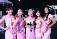 Bridesmaids dresses by Vicuna
