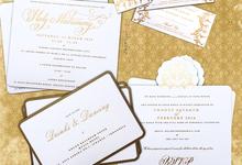Waldheim & Widya Wedding Accessories by Blue Label Invitation
