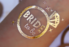 Bride tribe gold bachelorette temp tats by Tats4now LLC