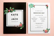 Midnight template design by Vicky Perry Wedding Stationery