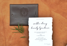 Vintage Rustic Leather Invitation by Cameo