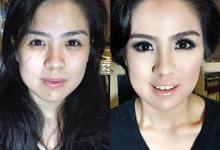 BEFORE - AFTER • MAKEOVER by saney ard make up