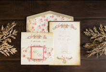Victorian Vintage Romantic Invitation by Brown Fox Creative