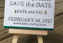 Save the Date, Canvas, Affordable, Handmade. by Hikhib
