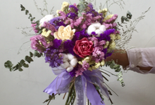 Dried Flower Bouquet, Brooch Bouquet, Fresh Flower  by Flower Studio Indonesia