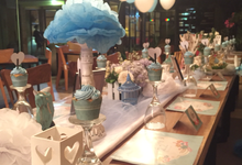 Long table decoration sample by Peony Garden Bali