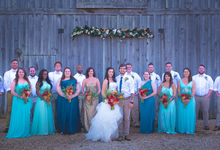 Southern summer wedding  by L&A Event Designs