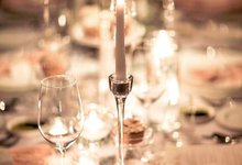 Elegant White Table Setting by Millevoile