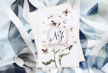 Sweet 17 Botanical Invitation by Meilifluous Calligraphy & Design