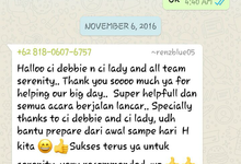 Testimoni from our Lovely Groom n Bride  by Serenity wedding organizer