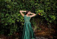 Dark Green Dress  by Bali DressCode Safari & Photography
