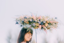 Floral parasol by Fleur&craft
