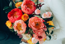 Coral Peony Bouquet  by Floral Paradise