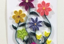 The Triple Floral Artwork Set by Passionately Handmade