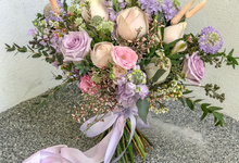 A's lilac dreams bridal bouquet  by Florals Actually