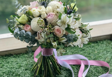 Sweet pastels bouquet for HerVelvetVase  by Florals Actually