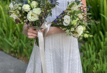 Navy and white wedding flowers for Bride C by Florals Actually