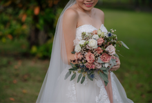Dusty shades for bride C  by Florals Actually