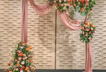 Coral and Peach for Bride J by Florals Actually