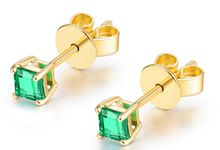 Tiaria Foresty Emerald Gold and Emerald Earring Perhiasan Anting Emerald by TIARIA