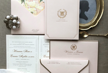 Fornia design invitation wedding invitations in jakarta wirawan evanias classic wedding invitation by fornia design invitation stopboris Images