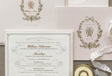 Fornia design invitation wedding invitations in jakarta william rosalina custom wedding invitation by fornia design invitation stopboris Images