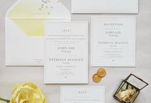 John & Jesslyn wedding invitation by Fornia Design Invitation