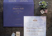 David & Shella's wedding invitation by Fornia Design Invitation