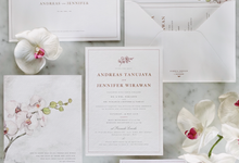 Andreas & Jennifer's Custom Invitation by Fornia Design Invitation