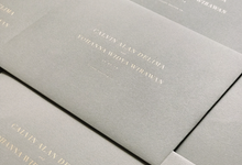 Calvin & Yohanna  by Fornia Design Invitation