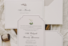 Adi & Beverly by Fornia Design Invitation