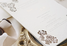 Ian & Lettisia Laser Cut Invitation by Fornia Design Invitation