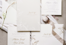 Adhytama & Monica  by Fornia Design Invitation