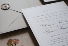 Christian & Gracia Letterpress invitation suite by Fornia Design Invitation