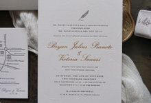 Bryan & Victoria Letterpress Invitation by Fornia Design Invitation